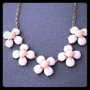 *3 for $30* White Floral Statement Necklace